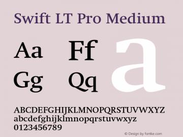 SwiftLTPro-Medium Version 1.100;PS 001.001;hotconv 1.0.38图片样张