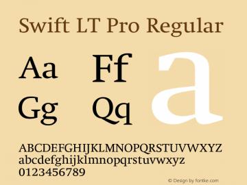 SwiftLTPro-Regular Version 1.100;PS 001.001;hotconv 1.0.38图片样张