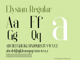 Elysian Version 1.002;Fontself Maker 3.5.0图片样张