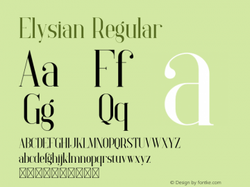 Elysian Version 1.002;Fontself Maker 3.5.0图片样张