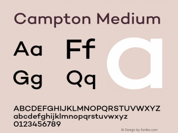 Campton Medium Version 1.002;PS 001.002;hotconv 1.0.88;makeotf.lib2.5.64775图片样张
