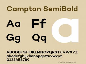 Campton SemiBold Version 1.002;PS 001.002;hotconv 1.0.88;makeotf.lib2.5.64775图片样张