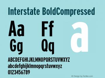 Interstate BoldCompressed Macromedia Fontographer 4.1 3/29/01图片样张