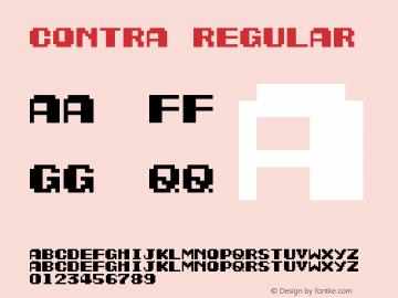 Contra Regular Version 1.0图片样张
