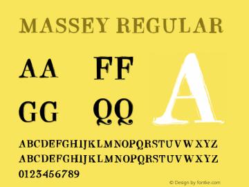 MASSEY Version 1.000 Font Sample