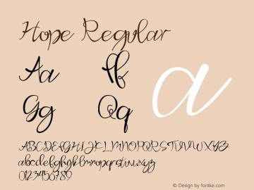 Hope Version 1.00;April 18, 2020;FontCreator 12.0.0.2567 64-bit图片样张