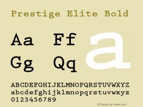 Prestige Elite Bold 1.000 Font Sample