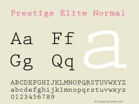 Prestige Elite Normal 1.000 Font Sample
