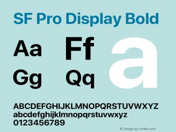 SF Pro Display Bold Version 15.0d4e20图片样张