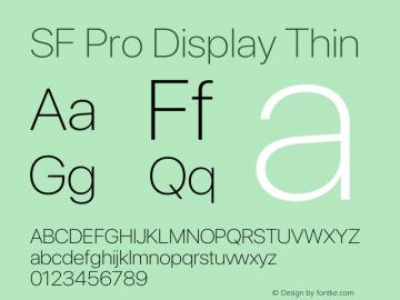 SF Pro Display Thin Version 15.0d4e20图片样张