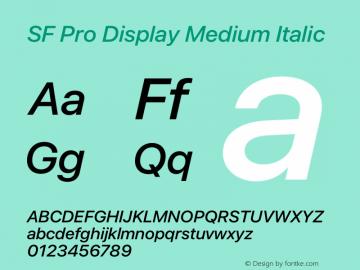 SF Pro Display Medium Italic Version 15.0d4e20图片样张