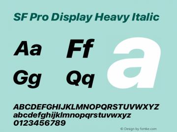 SF Pro Display Heavy Italic Version 15.0d4e20图片样张