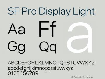 SF Pro Display Light Version 15.0d4e20图片样张