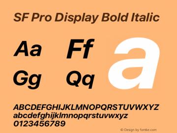 SF Pro Display Bold Italic Version 15.0d4e20图片样张