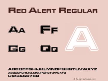 Red Alert Regular Rev 001.000 Font Sample