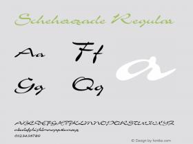 Scheherezade Regular Rev 002.000 Font Sample