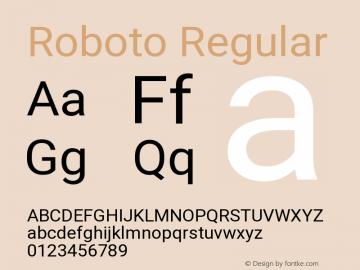 Roboto Regular Version 2.132 Font Sample
