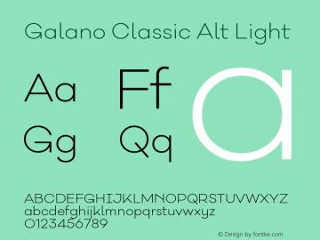 Galano Classic Alt Light Version 1.000;PS 001.000;hotconv 1.0.70;makeotf.lib2.5.58329图片样张