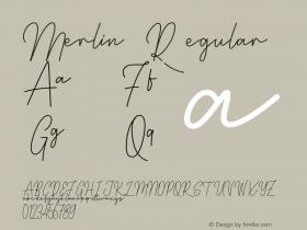 Merlin Version 1.007;Fontself Maker 3.5.1图片样张