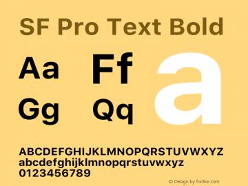SF Pro Text Bold Version 14.0d1e3图片样张