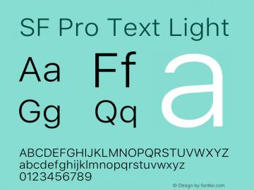 SF Pro Text Light Version 14.0d1e3图片样张