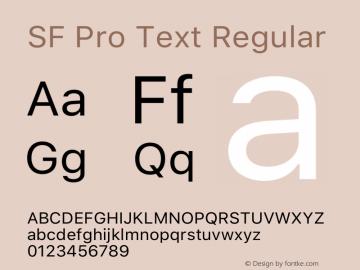 SF Pro Text Regular Version 14.0d1e3图片样张