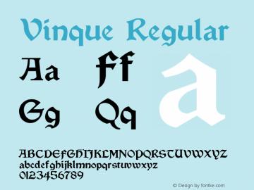 Vinque Regular Version 2.100 2004 Font Sample