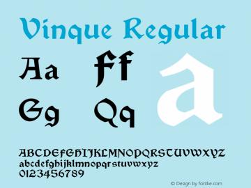 Vinque Regular Version 4.100 Font Sample