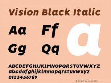 Vision Black Italic 1.0图片样张