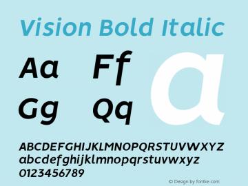 Vision Bold Italic 1.0图片样张
