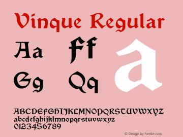 Vinque Regular Version 4.101 Font Sample