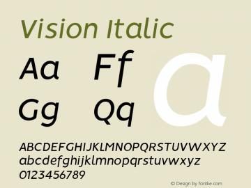 Vision Italic 1.0图片样张