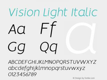 Vision Light Italic 1.0图片样张