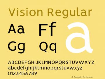 Vision Regular 1.0图片样张