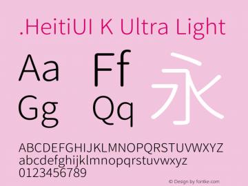 .HeitiUI K Ultra Light 图片样张