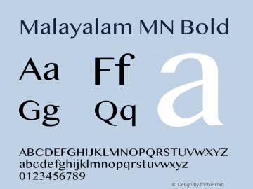 Malayalam MN Bold 13.0d4e1图片样张