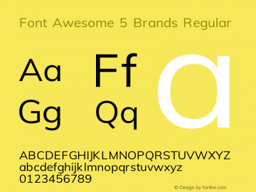 Font Awesome 5 Brands Regular 329.984 (Font Awesome version: 5.9.0)图片样张