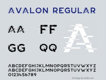 Avalon Version 1.00;May 15, 2020;FontCreator 12.0.0.2545 64-bit图片样张