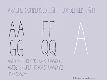 Aracne Condensed Light Version 1.000图片样张