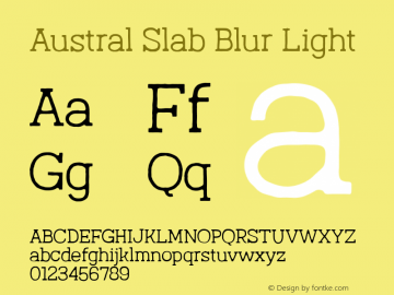Austral Slab Blur Light Version 1.000图片样张