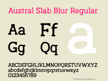Austral Slab Blur Regular Version 1.000图片样张