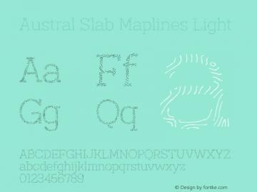 Austral Slab Maplines Light Version 1.000图片样张