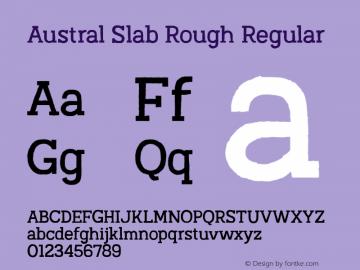Austral Slab Rough Regular Version 1.000图片样张