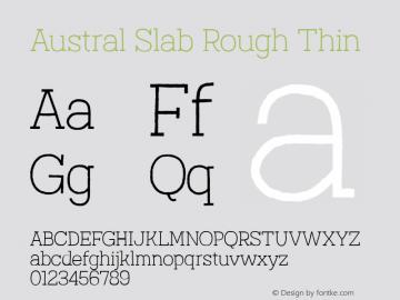 Austral Slab Rough Thin Version 1.000图片样张