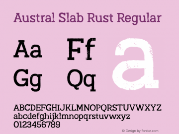 Austral Slab Rust Regular Version 1.000图片样张