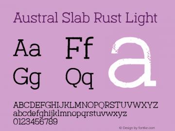 Austral Slab Rust Light Version 1.000图片样张