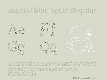 Austral Slab Spots Regular Version 1.000图片样张