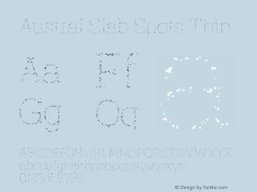 AustralSlabSpots-Thin Version 1.000图片样张