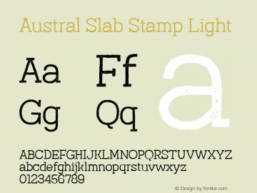 Austral Slab Stamp Light Version 1.000图片样张