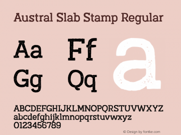 Austral Slab Stamp Regular Version 1.000图片样张
